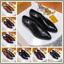 $enCountryForm.capitalKeyWord NZ - New Design Luxury Genuine Leather Lace Up Modern Men Brogue Shoes Party Wedding Suit Formal Footwear Male Dress Shoes