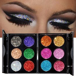 Beauty Essentials Glitter Eyeshadow Palette Yeux Sombra Makeup Metallic Festival Eye Shadow Powder Shimmer Maquiagem Blue Make Up Cosmetics Modern Techniques Beauty & Health