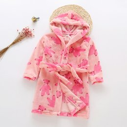 5efe7e751457 Cute Black Nightgowns NZ - Hot boys girls nightgown flannel soft hooded  pajamas autumn winter children
