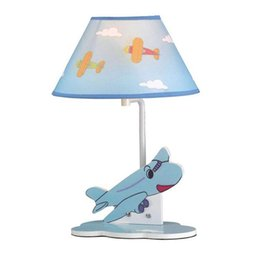$enCountryForm.capitalKeyWord UK - OOVOV Child Cartoon Blue Airplane Desk Lamps Creative Boy Girl Room Desk Lamp Baby Room Table Light