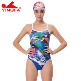 Women Training Swimsuit Canada - Yingfa 2017 NEW chlorine resistant women swimsuits Kids racing kids competitive swimsuit Girls training competition swim suit