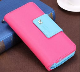 Pink Cell Phone Straps NZ - female Women's Purse Long Fashion Clutch Leather Wallet High Quality Phone Key Card Holder Bag With Strap