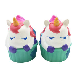 2017 cupcakes Kawaii Unicorn Squishy Cupcake Hippo Slow Rising Cute Animal Jumbo Soft Squzze Decompression Toys Phone Charms Gift Novelty Items OOA4992