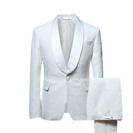 Men S Long Wedding Suit Australia - JinXuanYa Men Suit Men Single Breasted White Suits Tuxedo Grooms Wedding Suits for Party Dress Slim Fit Plus Size S-5XL