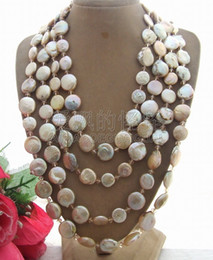 $enCountryForm.capitalKeyWord Australia - N041505 80'' Champagne Coin Pearl&Crystal Necklace