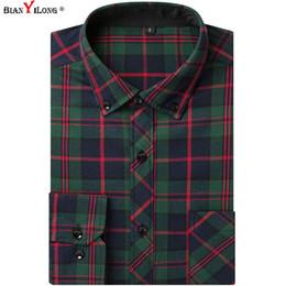 $enCountryForm.capitalKeyWord NZ - US Big Size 3XL Men's Flannel Plaid Shirts Dress 100% Cotton High Quality Male Casual Warm Soft Comfort Long Sleeve Shirt Men