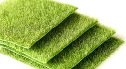 Hot Plastic 15*15*0.7cm Artificial Green Grass DIY Fake Moss Miniature Garden Ornament Craft 15x15cm on Sale