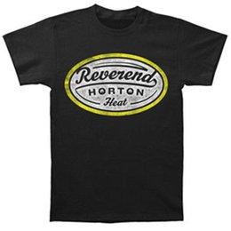 heat label 2018 - Reverend Horton Heat Men's Label T-shirt Black Size S to 3XL cheap heat label