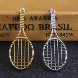 Raquete de badminton, raquete de tênis, chaveiro esportes fitness nova chave de fivela de tênis Pingente venda por atacado