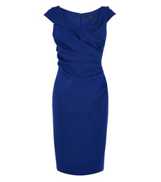 $enCountryForm.capitalKeyWord NZ - Royal Blue Sheath Knee Length Mother of the Bride Dresses with Ruched for Wedding Party Mother of the groom Dresses