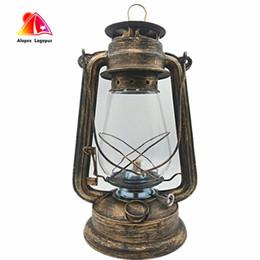 Discount shop for beds - 31cm Large Oil Lamp High Brightness Large Capacity 2017 Vintage Style Kerosene Lamp Light For Bar Coffee Shop LED Table