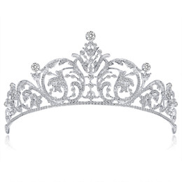 Wholesale New Tiaras Crowns Girls Bridesmaid Bride Crown Tiara Comb Wedding Hair Accessories Bridal Hair Head Jewelry W15