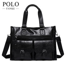$enCountryForm.capitalKeyWord NZ - FANKE POLO PU Leather Men Crossbody Shoulder Bags Business Handbags Man Briefcase Casule Tote Handbag Fashion Male FH170705-N