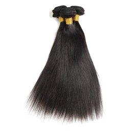 12 Inch Weft Human Hair Australia - Unprocessed Virgin Brazilian Hair Weaves 3 Bundles 4 Bundles Straight Human Hair Weft Extensions Natural Color Dyeable 8-30 inch