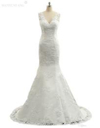 $enCountryForm.capitalKeyWord UK - 2018 Beach Wedding Dress Sexy Spaghetti Strap Sleeveless Lace Appliques Lace On Top Mermaid Wedding Gowns Custom Made Wedding Dress