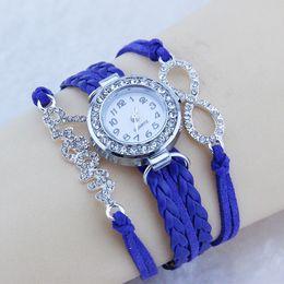 $enCountryForm.capitalKeyWord Canada - Womens Bracelets Gold Orange Leather Bracelet Wrist Watch Women AW-S-1011