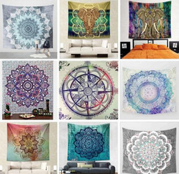 wall stickers yoga Australia - Bohemian Mandala Round Beach Towel 150*130cm Tapestry Yoga Mat Classical Carpets Polyester Tapestries Bath Towels Fashion Wall Stickers