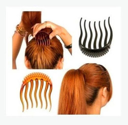 Hair Holder Comb Australia - Lady Girl Hair Tools Volume Inserts Hair Clip Hairpins Bumpits Bouffant Ponytail Comb Grips Headwear Ornaments Accessories For Woman