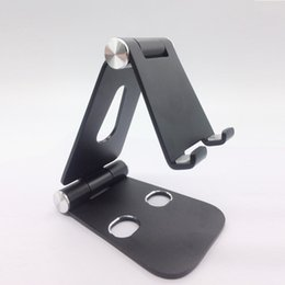 China 180 Degree Cell phone Tablet Aluminum Adjustable Mobile Phone Holder Foldable Stand Stability Desk for iPhone ipad support Free DHL suppliers
