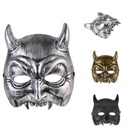 plastic horror UK - Halloween Demon Masks Party Demonstrate Festive Party Supplies Home New Plastic Mask Cheap Halloween Articles For Wholesale