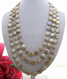 $enCountryForm.capitalKeyWord Australia - R041505 80'' Champagne Coin Pearl&Crystal Necklace