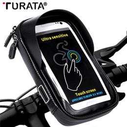 "$enCountryForm.capitalKeyWord NZ - Turata 6.0"" inch Bike Bicycle Waterproof Cell Phone Bag Holder Motorcycle Mount for Samsung Galaxy S8 plus iphone X Xiaomi LG C18110801"