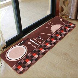 $enCountryForm.capitalKeyWord NZ - New Long Kitchen Rugs 50x180cm Knife Fork Printed Kitchen Mat Embroidered Floor Mat Anti-slip Polyester Coffee Carpets & Rugs