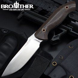 Venta al por mayor de Brother F002 Cuchilla recta Cuchillos rectos Cuchillos tácticos con Kydex Hunting Survival EDC Tool Collection Promoción de venta de fábrica para la venta