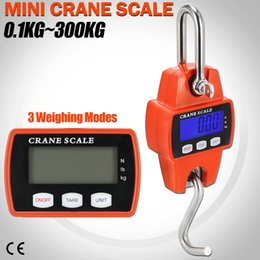 Discount industrial cranes 300kg Mini Crane Scale LCD Electronic Digital Display Industrial Hook Hanging Weight Scale 2 Colors AAA737