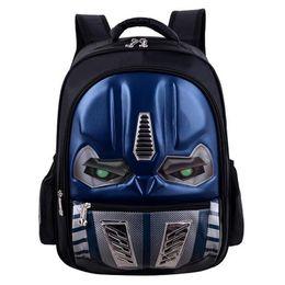 $enCountryForm.capitalKeyWord NZ - Cartoon School Backpack For Boys And Girls Children Cool 3D Robot Backpack Kindergarten Book Bags Mochila Infantil Rucksacks Y18110107