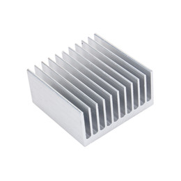 Sink Accessories UK - Cooling Accessories Heat Sink 40X40X20mm IC HeatSink Metal Aluminum Cooling Fin Fan Silver Color Free Shipping Wholesale Support