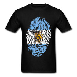 $enCountryForm.capitalKeyWord UK - High Quality Pure Cotton T Shirt Plus Size XXL Mens Argentina Flag Fingerprint Digital Picture T-Shirts Men National Day Tshirt