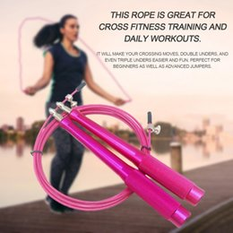 $enCountryForm.capitalKeyWord NZ - Double Metal Ball Bearing Aluminum Handle Speed Exercise Training Jump Skipping Rope Professional Jump Rope Speed Training Hot