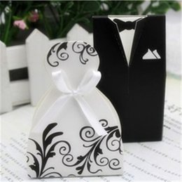 $enCountryForm.capitalKeyWord Australia - Bride And Groom Dresses Wedding Candy Box Gifts Favor Box Wedding Bonbonniere DIY Event Party Supplies X134-1
