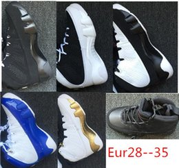 christmas gift shoes Australia - Eur28-35 oreo 9 IX gold white blue shoes birthday gift og space high children kids j Basketball white 2019 christmas J9 9s Sneaker 11c-3Y
