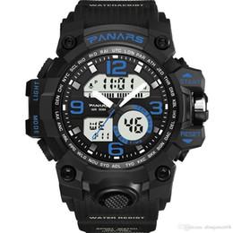 $enCountryForm.capitalKeyWord NZ - Waterproof men's watches by Night light, week,alarm,calendar new hot style electronic quartz double display outdoor sports watch