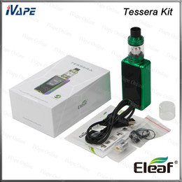 Color fill silver online shopping - Authentic Eleaf Tessera Kit with ELLO TS Atomizer mL Top Fill Tessera Mod Buit in Battery W mAh inch TFT Color Display