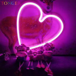 $enCountryForm.capitalKeyWord Australia - TONGER Operated pink hart Neon Art Sign LED Neon Sign Handmade Visual Artwork Home Wall Decor Leon Light for Kids Room TG2002