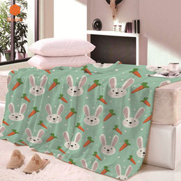 full beds kids 2019 - Super Soft Thicking Rabbit carrot Blanket for Bed BeachTowel For Kids Adults Blanket Throws bedsheet Travel Sheets CB68