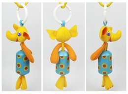 BaBy chime rattles online shopping - 27cm Styles Baby Doll Cheerful Rocking Wind Chimes Sound Soft Gentle Rattle Plush Toy Cute Animals Elephant Rabbit Learning