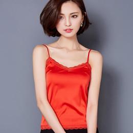 7b223dd1169177 Summer Tank Top Women Sexy Sleeveless V Neck Silk Basic Tops Blusas Casual  Plus Size Vest Camisole Crop Tops Women A289