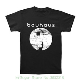 China Bauhaus Men's Distressed Face T-shirt Black New Mens Spring Summer Dress Short Sleeve Casual supplier distressed cotton suppliers