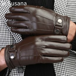 $enCountryForm.capitalKeyWord Australia - St.Susana 2018 Men Leather Gloves Genuine Sheepskin Leather Male Touch Screen Gloves Autumn WInter Fashion Driving Glove Mittens C18111501