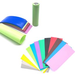China 18650 20700 battery PVC Skin Sticker Shrinkable Wrap Cover Sleeve Heat Shrink Re-wrapping for Batteries Charger Wrapper cheap skinning sticker suppliers