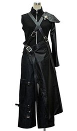 Chinese  FF7 Final Fantasy VII Cloud Strife Cosplay Costume Custom Made Any Size manufacturers