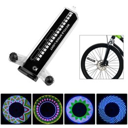 Cool 2 Side 32 Led 32 Mode Night Waterproof Wheel Signal Lamp Reflective Rim Rainbow Tire Bikes Bicycle Fixed Spoke Warn Light Durable Service Bicycle Accessories