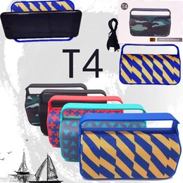 $enCountryForm.capitalKeyWord NZ - T4 Bluetooth Speaker Fabric Portable Outdoor bluetooth Wireless Subwoofer boombox Speaker with Phone Holder bicycle cheap