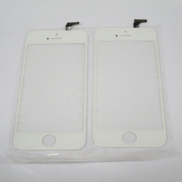 Iphone Screen Testing Australia - Jiutu Tested Touch Screen Digitizer Outer Panel Front Glass with Flex Cable For iPhone 5 5C 5S
