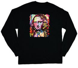 $enCountryForm.capitalKeyWord UK - long sleeve t-shirt for men Mona Lisa black light design mens tee shirt edm rave