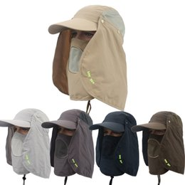 $enCountryForm.capitalKeyWord NZ - 360 Degree Sunscreen Men And Women Fishing Cap With Face Shield Outdoor Mosquito Bucket Hat Mens Military Style Hats